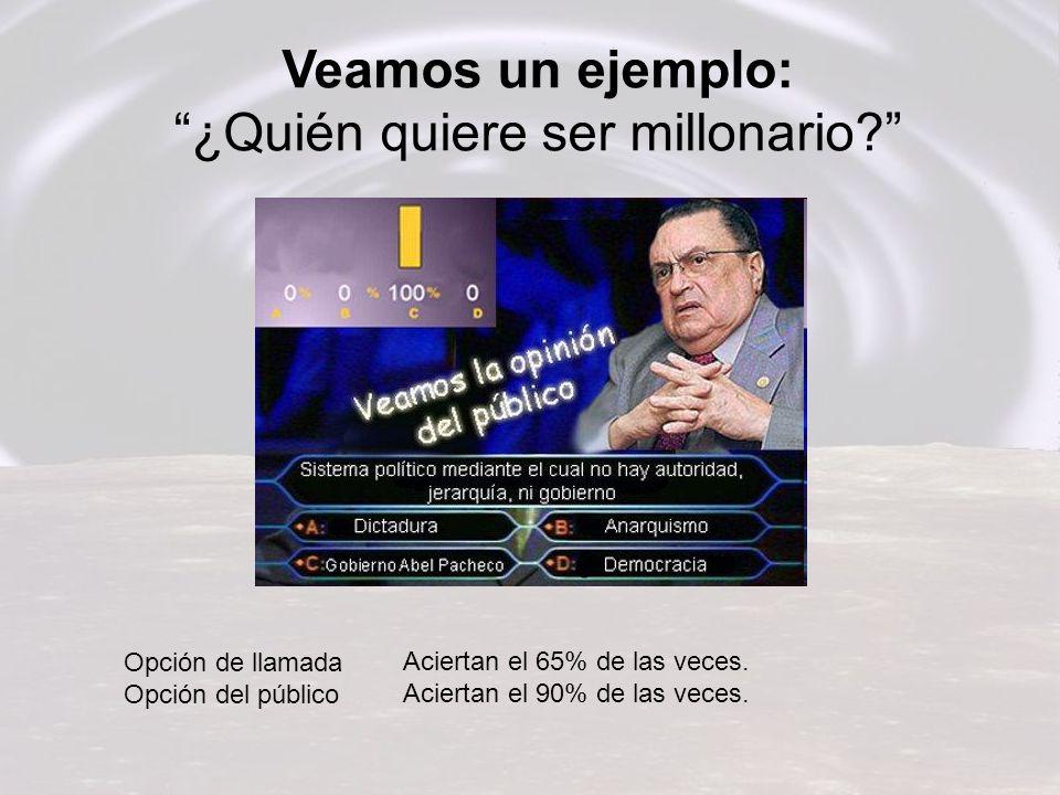 Veamos un ejemplo: ¿Quién quiere ser millonario.