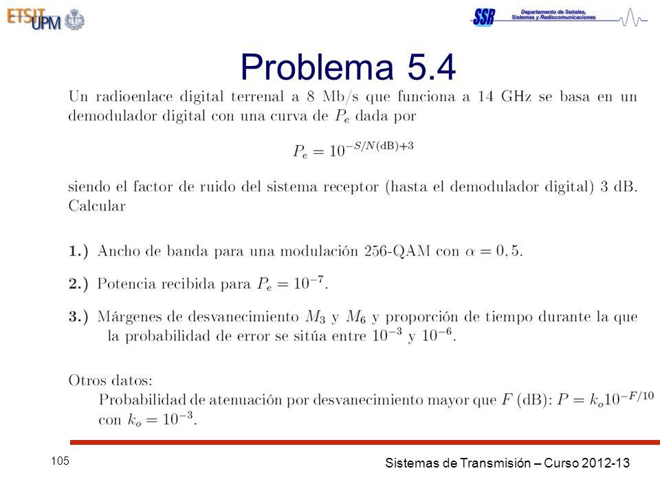 Sistemas de Transmisión – Curso 2012-13 105 Problema 5.4