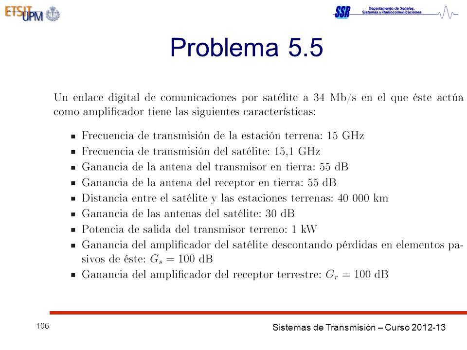 Sistemas de Transmisión – Curso 2012-13 106 Problema 5.5