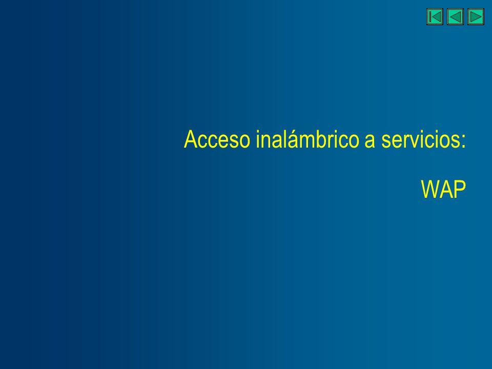 Acceso inalámbrico a servicios: WAP