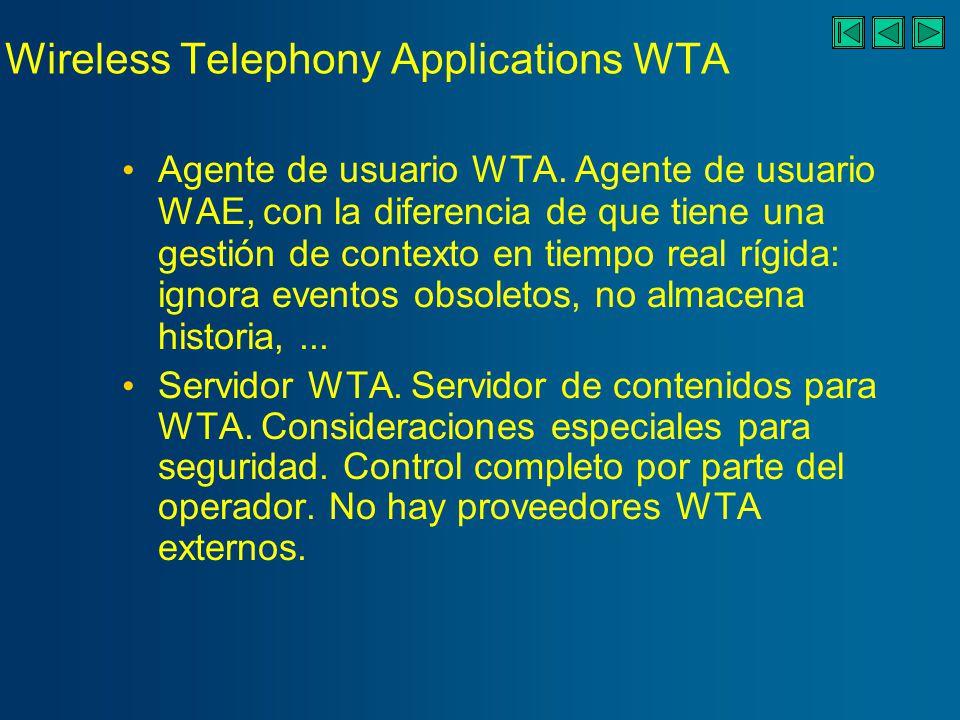 Wireless Telephony Applications WTA Servicios WTA.