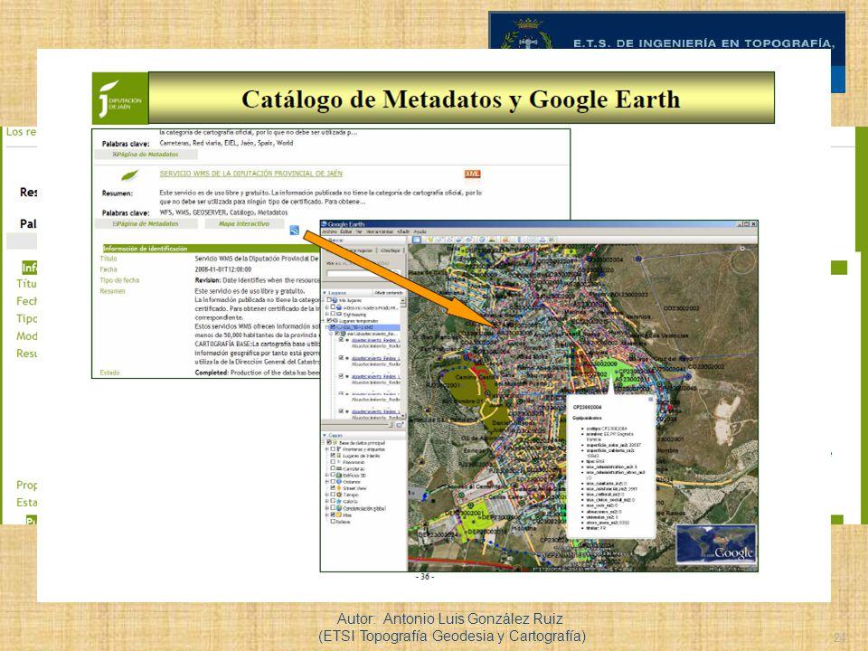 24 Ejemplo de servicio de catálogo, Autor: Antonio Luis González Ruiz (ETSI Topografía Geodesia y Cartografía)
