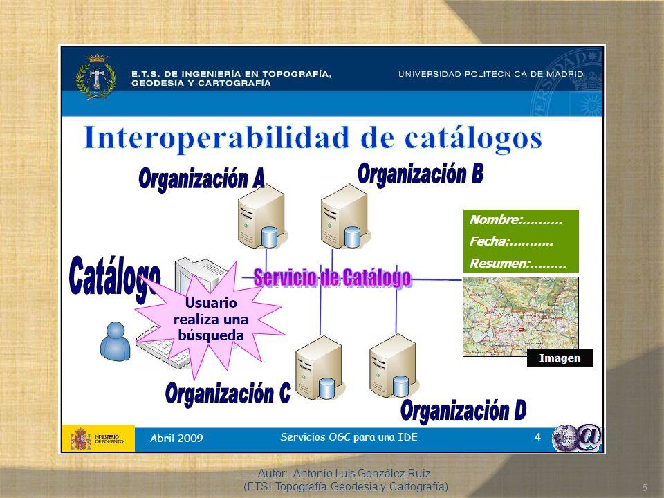 Autores: Eva Calvillo, Jorge Belenguer (ETSIT Topografía Geodesia y Cartografía)5 Autor: Antonio Luis González Ruiz (ETSI Topografía Geodesia y Cartog