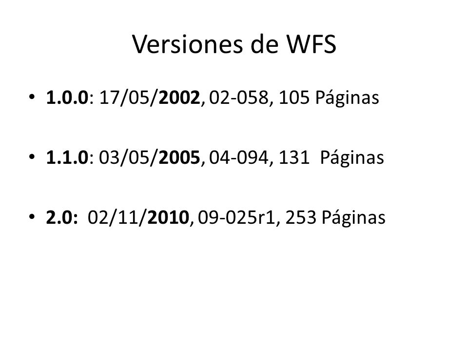 Bibliografía http://idelab.uva.es/blog/web-feature- service-acceso-en-red-a-datos-espaciales- vectoriales http://idelab.uva.es/blog/web-feature- service-acceso-en-red-a-datos-espaciales- vectoriales http://www.idealugo.es/eiel2009/es/servicios _ogc.html http://www.idealugo.es/eiel2009/es/servicios _ogc.html https://www.e- education.psu.edu/geog585/l3_p9.html https://www.e- education.psu.edu/geog585/l3_p9.html https://www.seegrid.csiro.au/wiki/bin/view/C GIModel/ServiceArchitectureTG