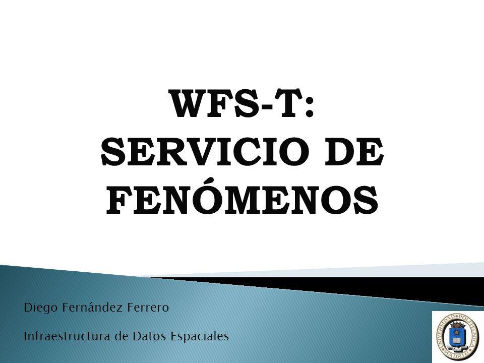 WFS-T: SERVICIO DE FENÓMENOS Diego Fernández Ferrero Infraestructura de Datos Espaciales