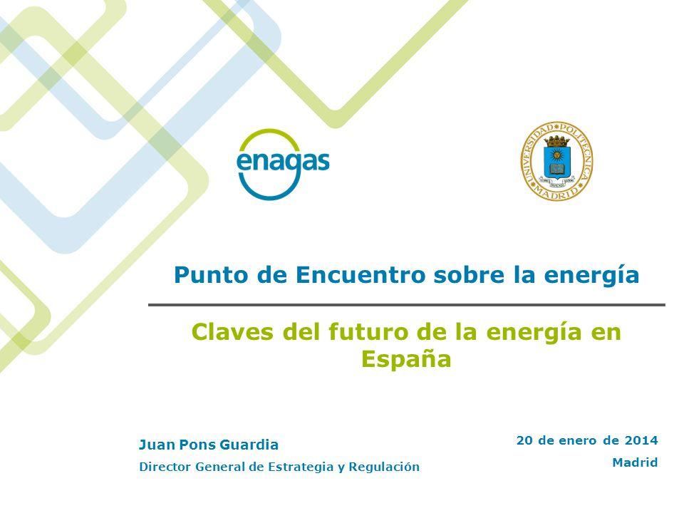 Punto de Encuentro sobre la energía Claves del futuro de la energía en España 20 de enero de 2014 Madrid Juan Pons Guardia Director General de Estrate
