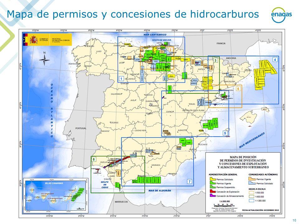 Mapa de permisos y concesiones de hidrocarburos 16