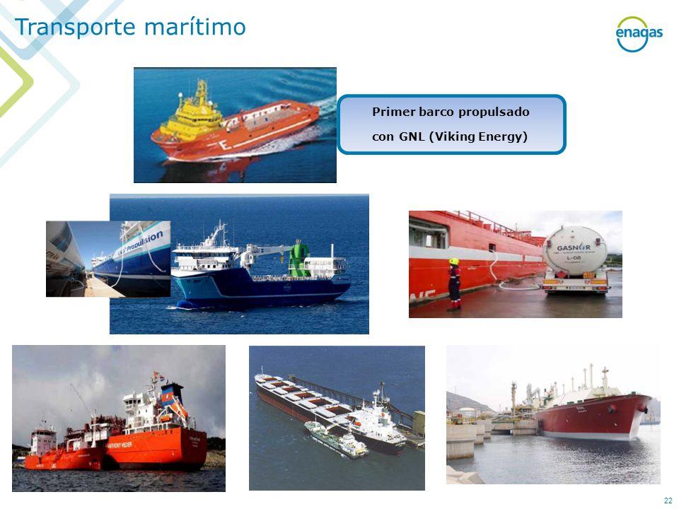 Transporte marítimo Primer barco propulsado con GNL (Viking Energy) 22