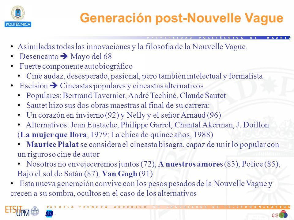 Generación post-Nouvelle Vague Asimiladas todas las innovaciones y la filosofía de la Nouvelle Vague.