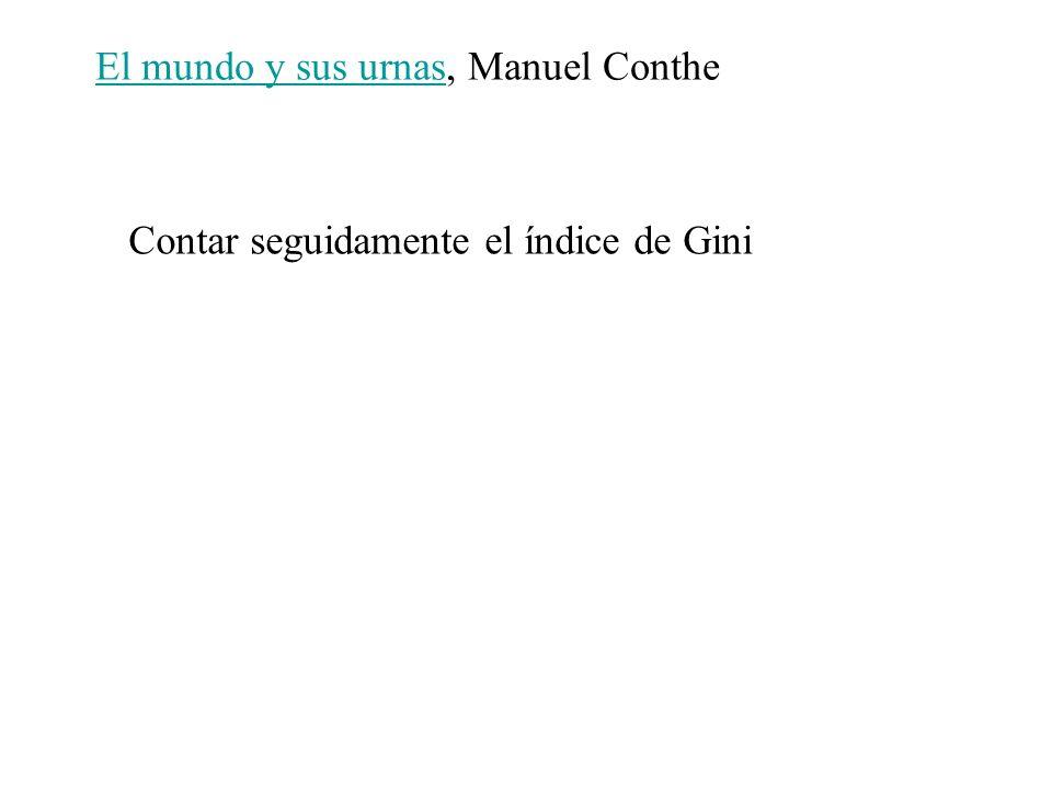 El mundo y sus urnasEl mundo y sus urnas, Manuel Conthe Contar seguidamente el índice de Gini
