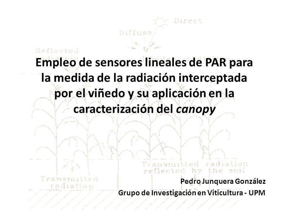 Empleo de sensores lineales de PAR para la medida de la radiación interceptada por el viñedo y su aplicación en la caracterización del canopy Pedro Ju