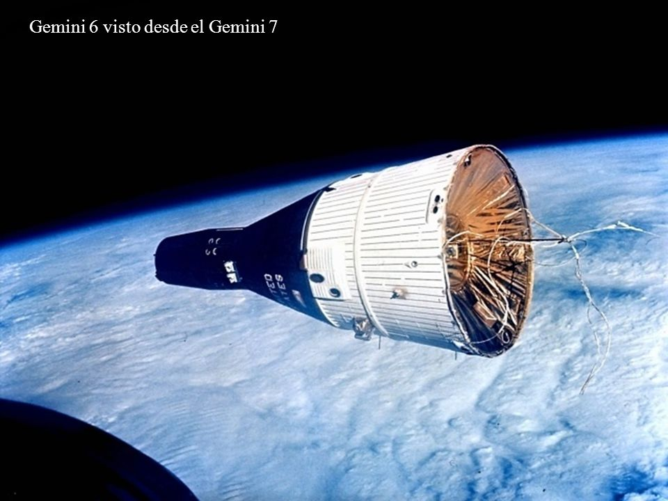 Gemini 6 visto desde el Gemini 7