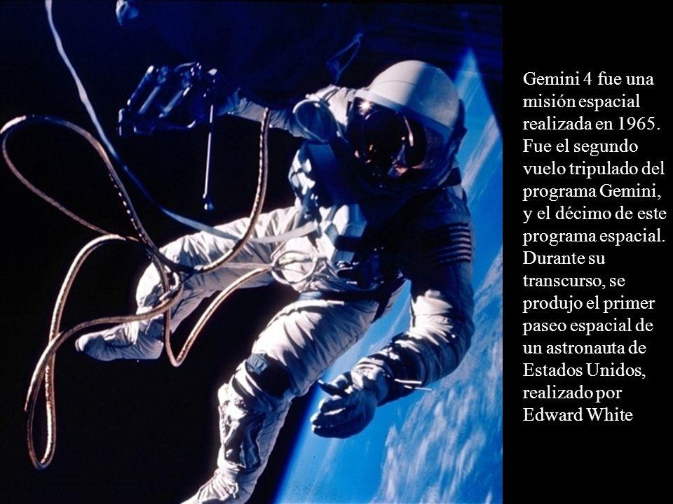 Gemini 4 fue una misión espacial realizada en 1965. Fue el segundo vuelo tripulado del programa Gemini, y el décimo de este programa espacial. Durante