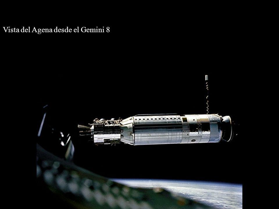 Vista del Agena desde el Gemini 8