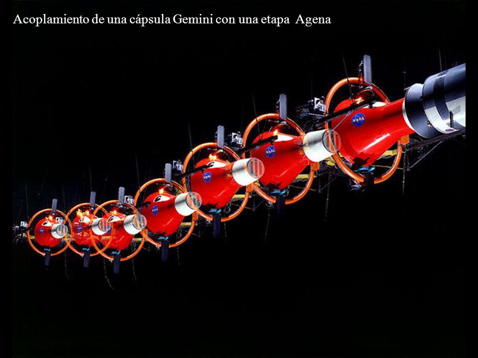 Acoplamiento de una cápsula Gemini con una etapa Agena