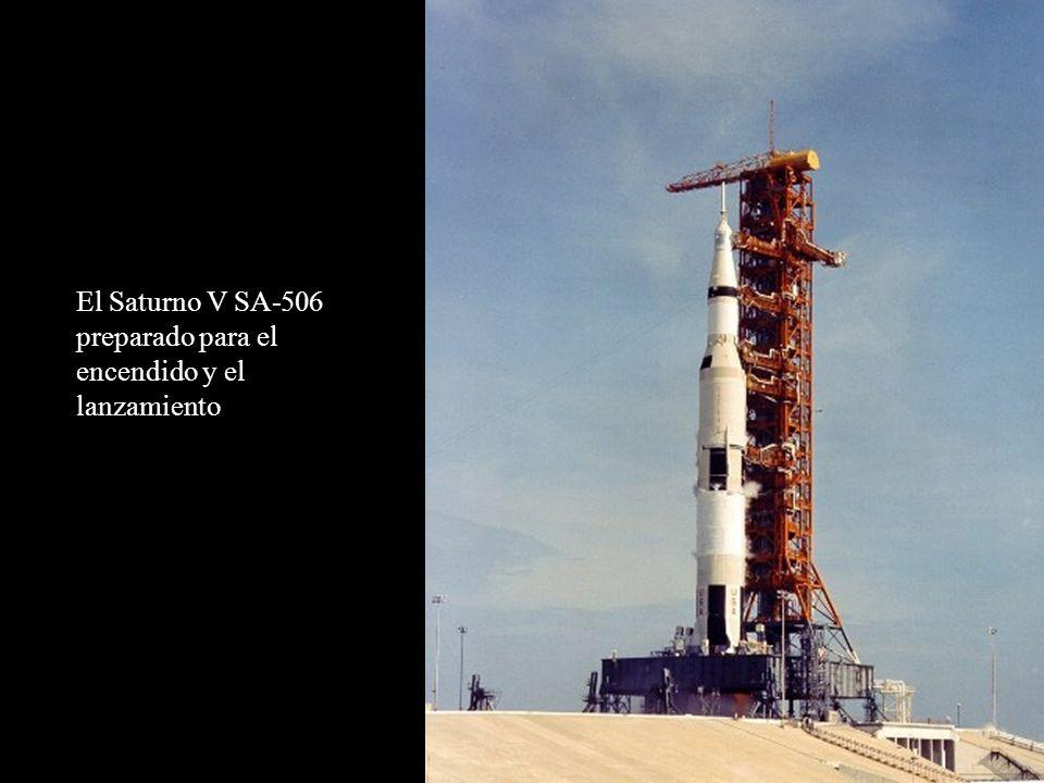 El Saturno V SA-506 preparado para el encendido y el lanzamiento
