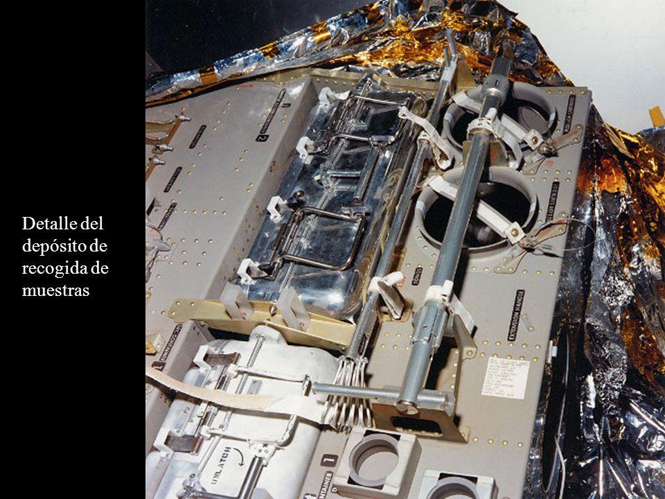 Detalle del depósito de recogida de muestras