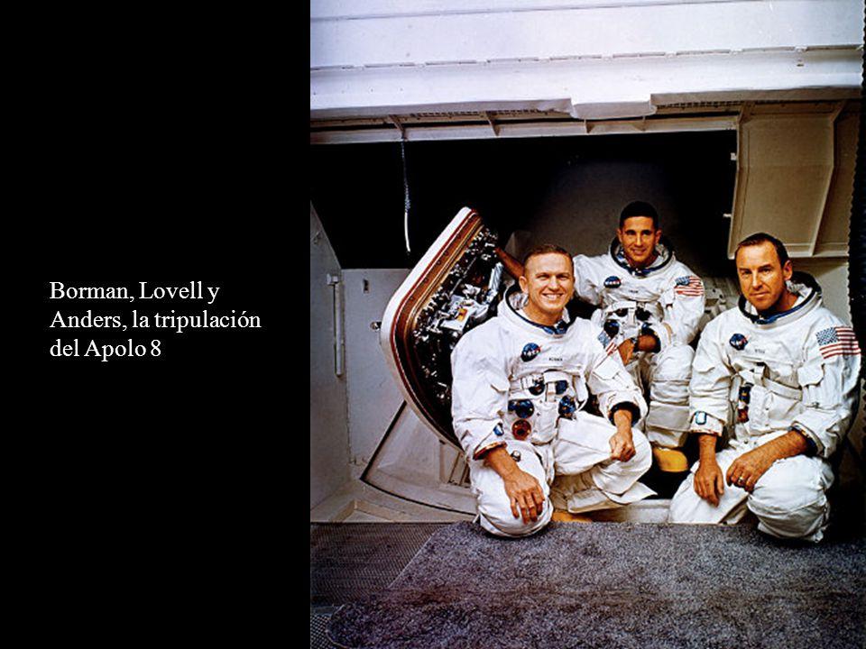Borman, Lovell y Anders, la tripulación del Apolo 8