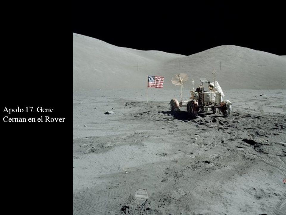 Apolo 17. Gene Cernan en el Rover