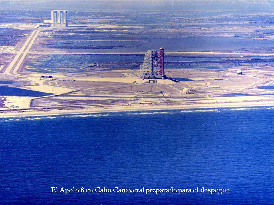 El Apolo 8 en Cabo Cañaveral preparado para el despegue