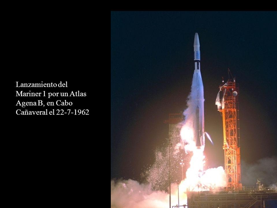 Lanzamiento del Mariner 1 por un Atlas Agena B, en Cabo Cañaveral el 22-7-1962