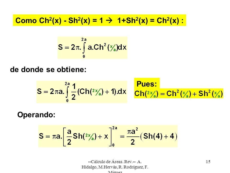 --Cálculo de Áreas.Rev.-- A. Hidalgo, M.Hervás, R.