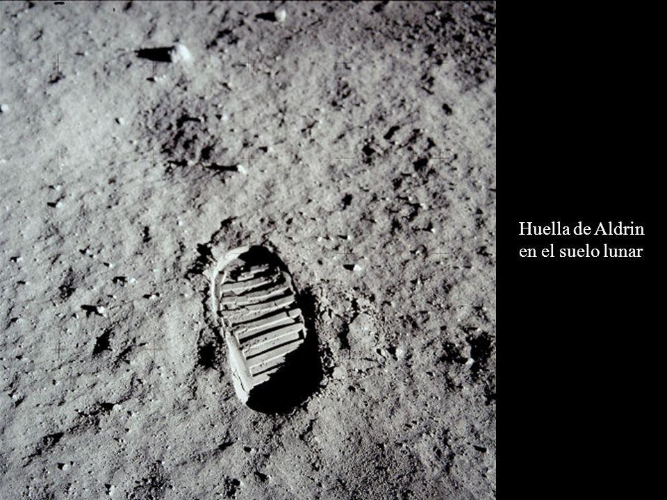 Huella de Aldrin en el suelo lunar