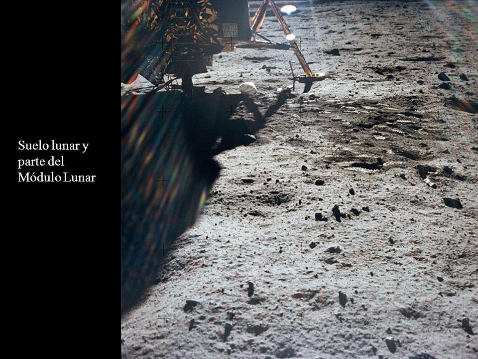 Suelo lunar y parte del Módulo Lunar