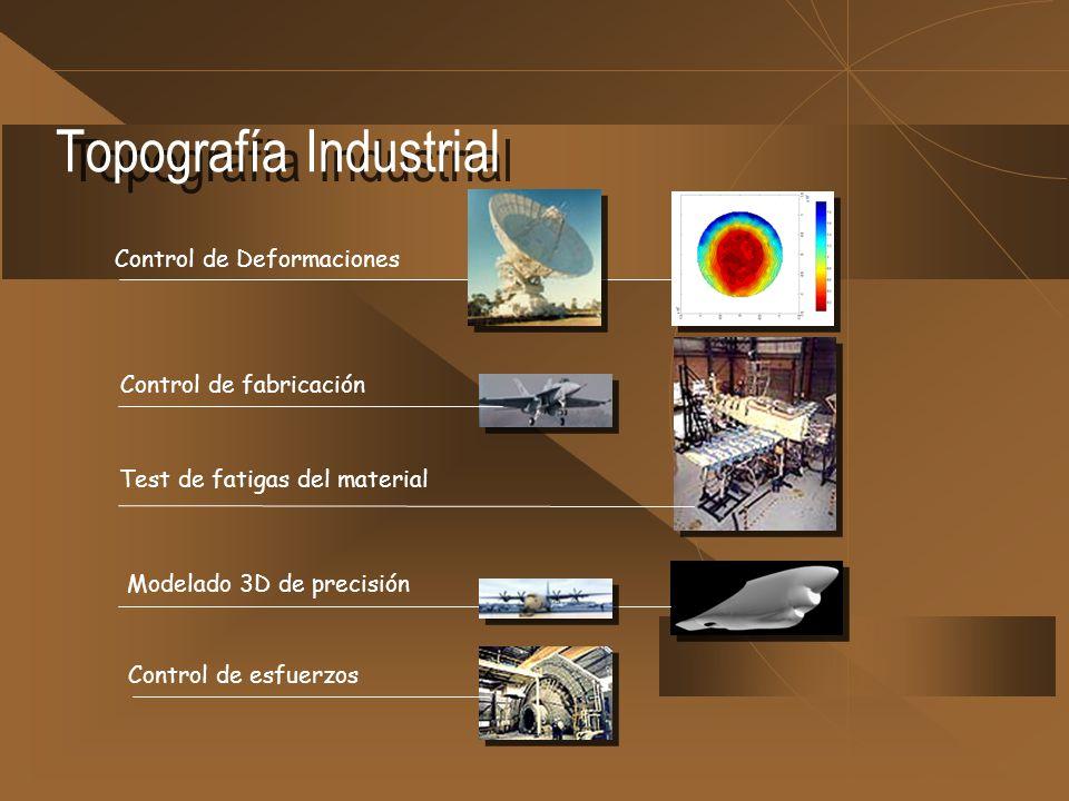 Topografía Industrial Control de Deformaciones Control de fabricación Test de fatigas del material Modelado 3D de precisión Control de esfuerzos