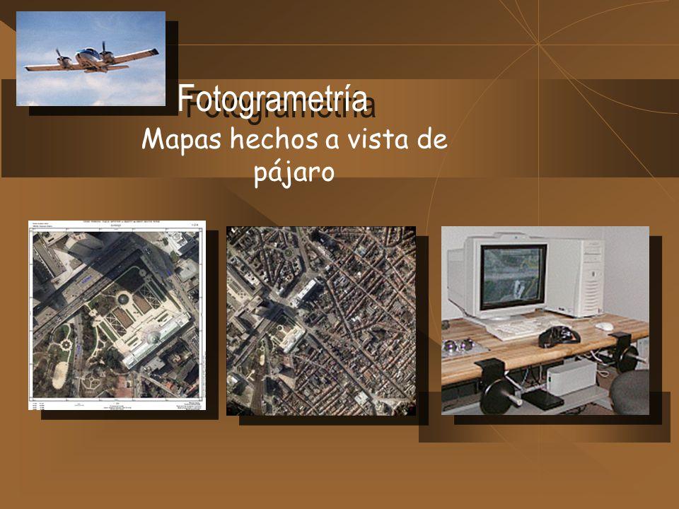 Fotogrametría Mapas hechos a vista de pájaro