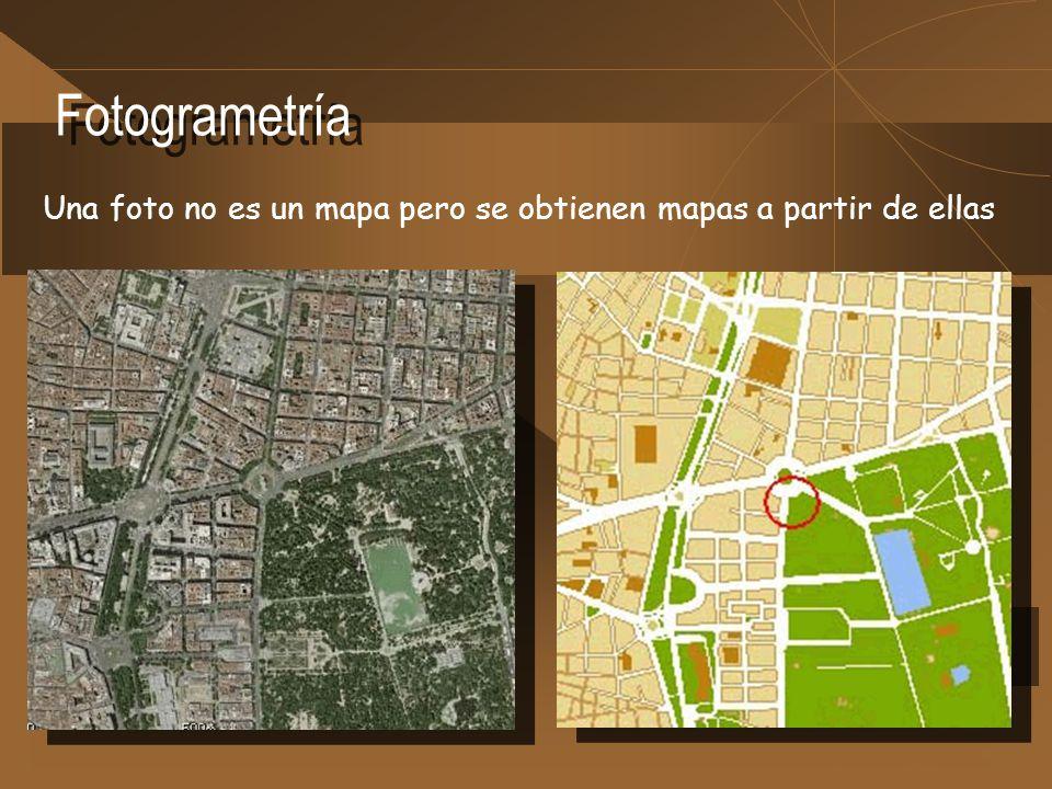 Fotogrametría Una foto no es un mapa pero se obtienen mapas a partir de ellas