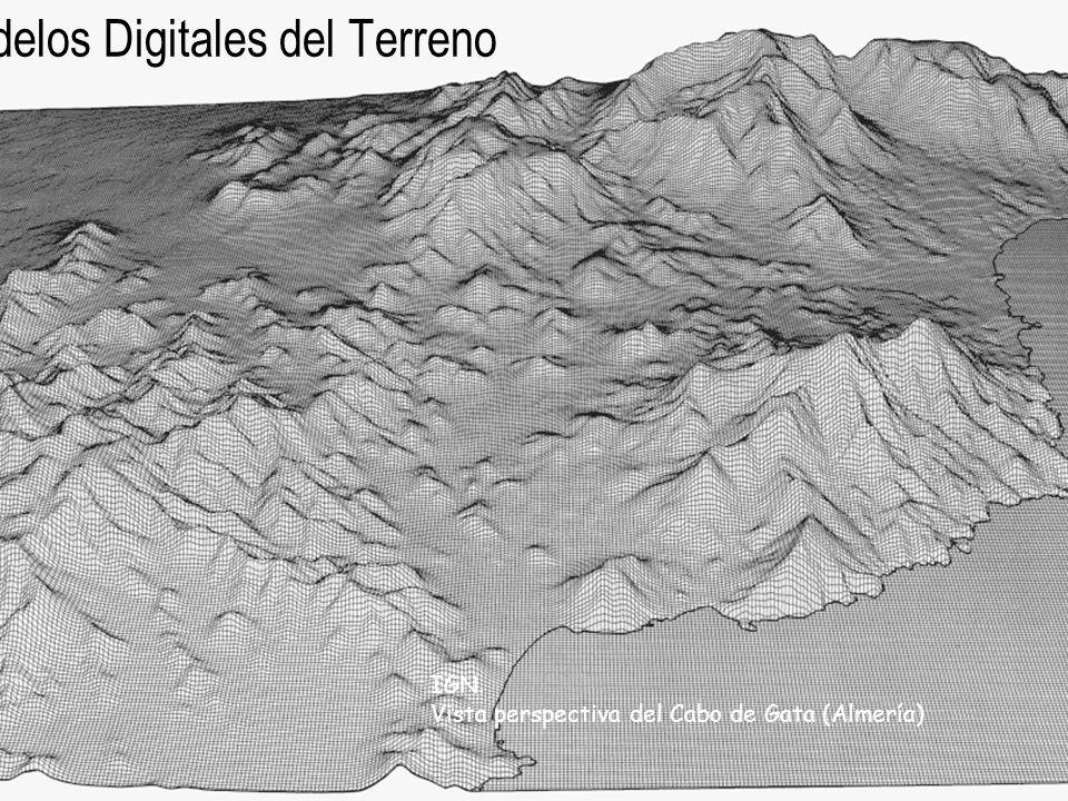 Modelos Digitales del Terreno IGN. Vista perspectiva del Cabo de Gata (Almería)