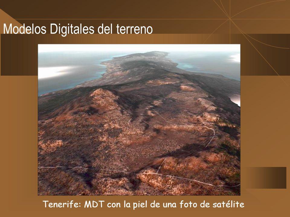 Modelos Digitales del terreno Tenerife: MDT con la piel de una foto de satélite