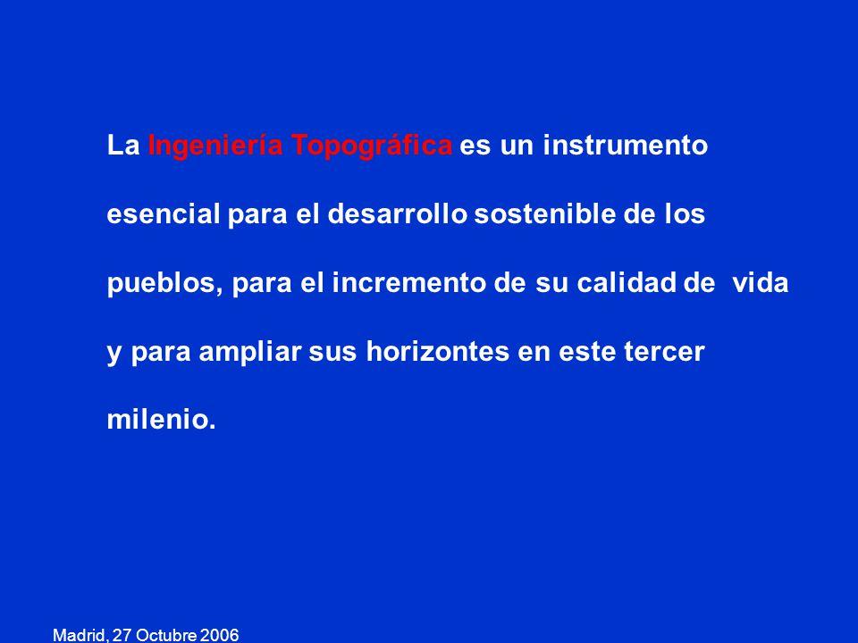 Madrid, 27 Octubre 2006 Cualquiera que sea el rumbo que a esta profesión le demos, siempre, como decía el poeta argentino José Pedroni, …Poblaremos el silencio de figuras…