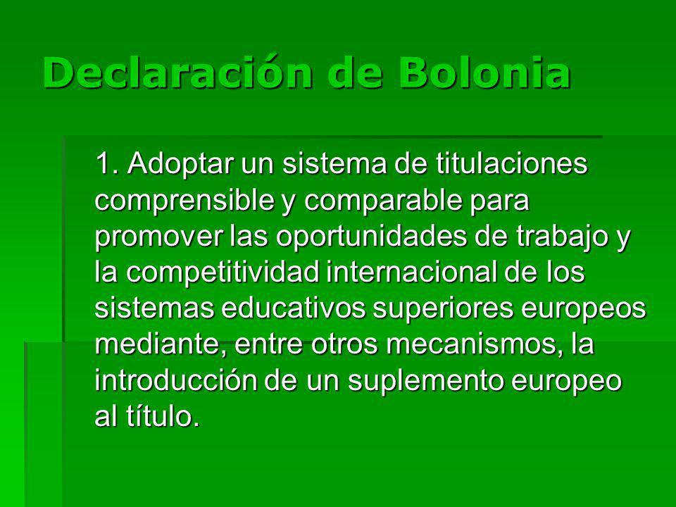 Declaración de Bolonia 1.