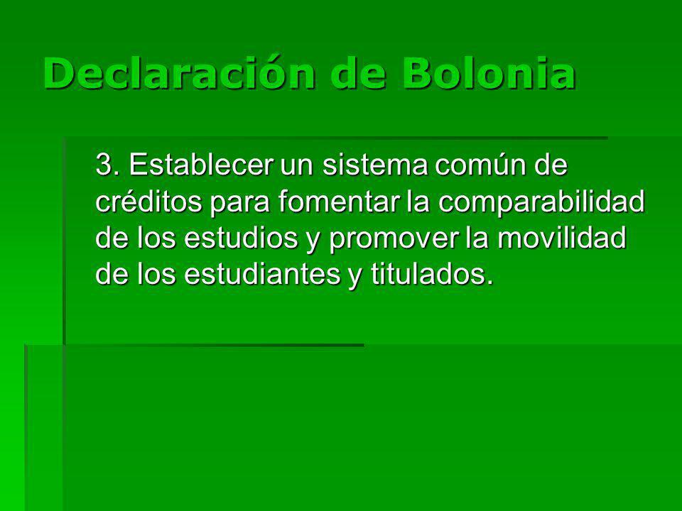Declaración de Bolonia 3.