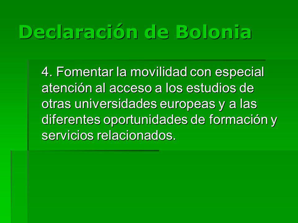 Declaración de Bolonia 4.