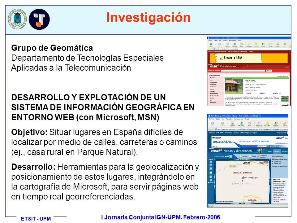 ETSIT - UPM ETSIT - UPM I Jornada Conjunta IGN-UPM.
