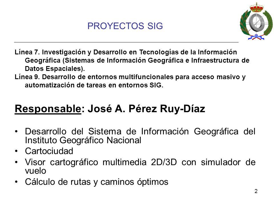 2 PROYECTOS SIG Responsable: José A.