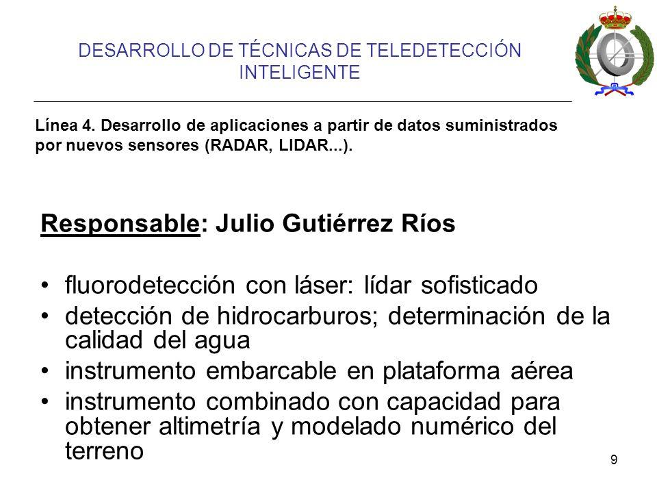 9 DESARROLLO DE TÉCNICAS DE TELEDETECCIÓN INTELIGENTE Línea 4.