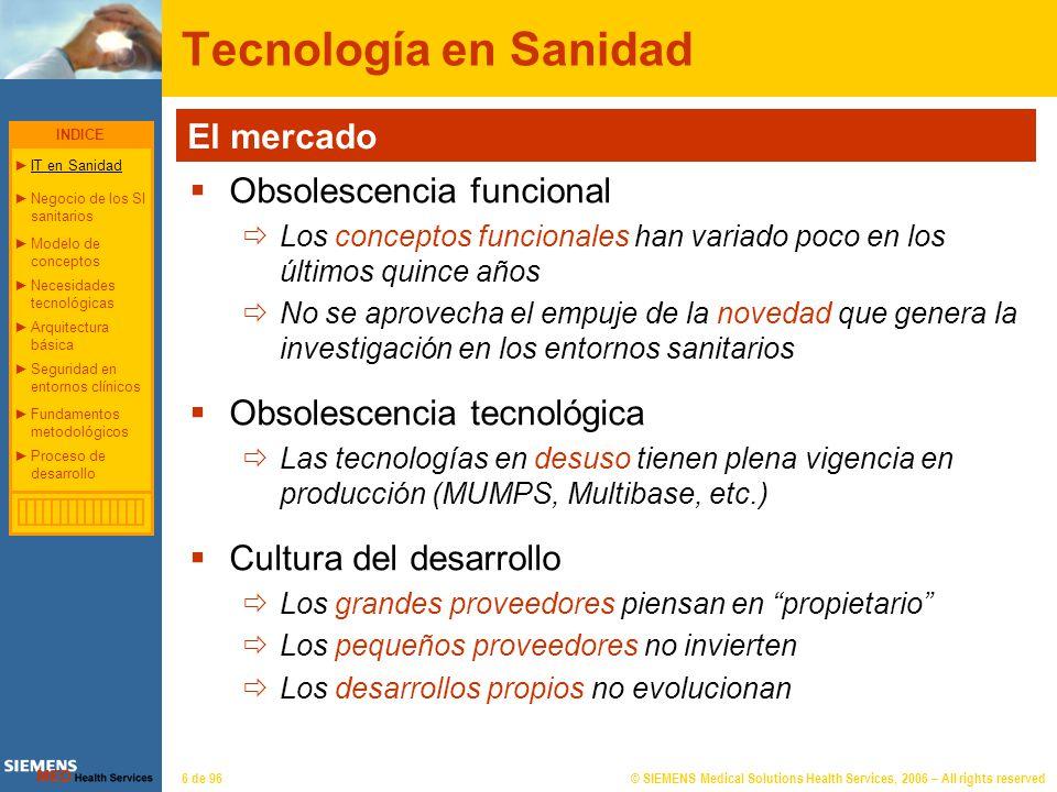 © SIEMENS Medical Solutions Health Services, 2006 – All rights reserved77 de 96 Proceso de Desarrollo