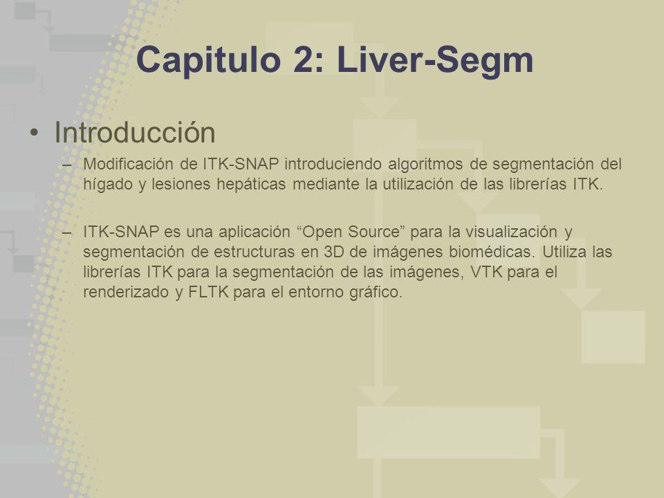 Capitulo 2: Liver-Segm Introducción –Modificación de ITK-SNAP introduciendo algoritmos de segmentación del hígado y lesiones hepáticas mediante la utilización de las librerías ITK.