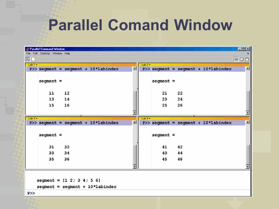 Parallel Comand Window