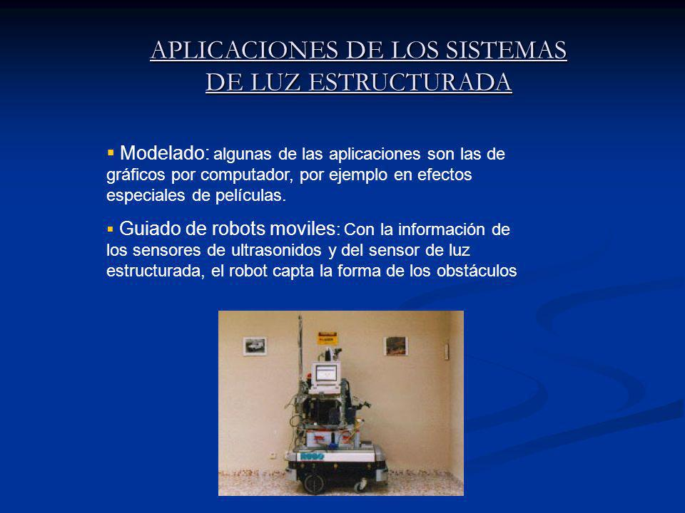 APLICACIONES DE LOS SISTEMAS DE LUZ ESTRUCTURADA Modelado: algunas de las aplicaciones son las de gráficos por computador, por ejemplo en efectos especiales de películas.