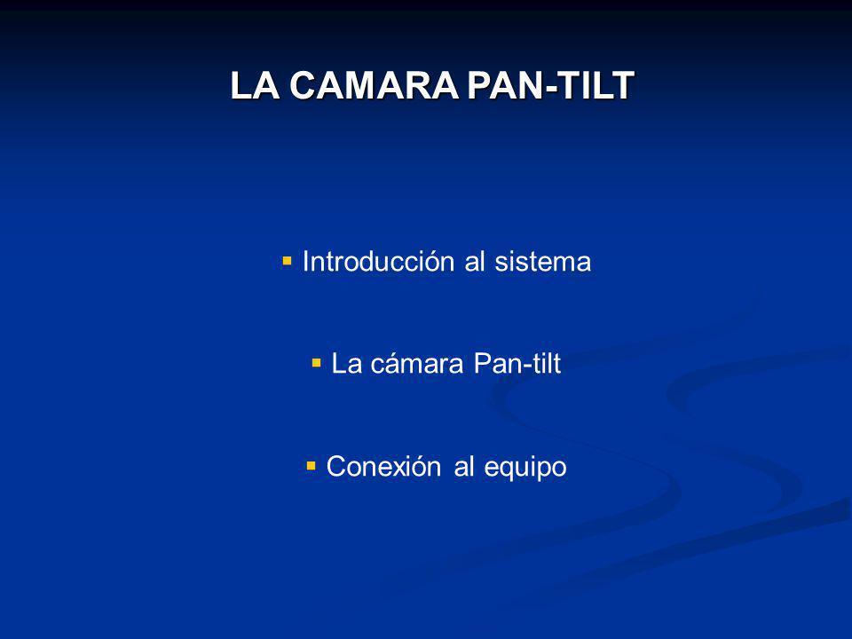 LA CAMARA PAN-TILT Introducción al sistema La cámara Pan-tilt Conexión al equipo