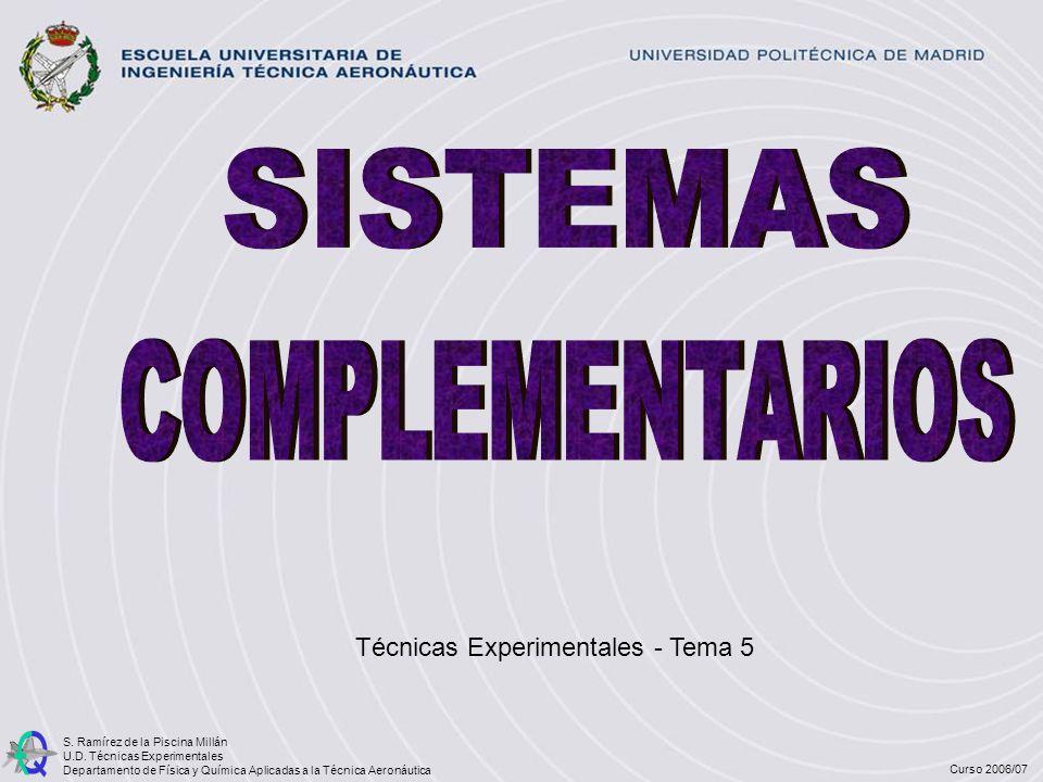 Técnicas Experimentales - Tema 5 S. Ramírez de la Piscina Millán U.D. Técnicas Experimentales Departamento de Física y Química Aplicadas a la Técnica