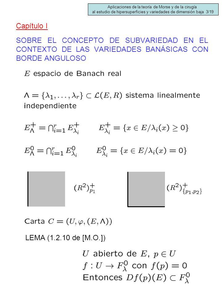 SOBRE EL CONCEPTO DE SUBVARIEDAD EN EL CONTEXTO DE LAS VARIEDADES BANÁSICAS CON BORDE ANGULOSO LEMA (1.2.10 de [M.O.]) Capítulo I Aplicaciones de la t
