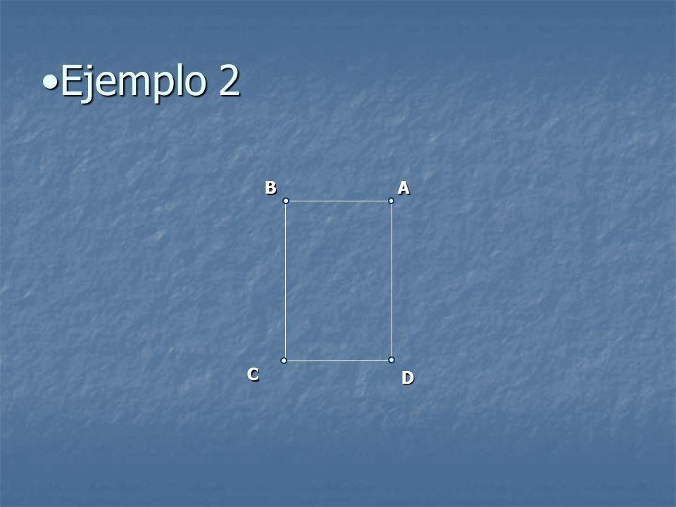 Ejemplo 2Ejemplo 2 AB C D