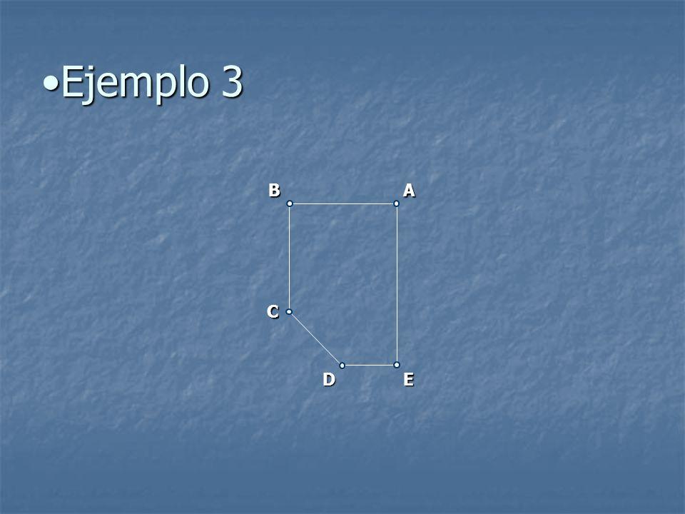 Ejemplo 3Ejemplo 3 AB C DE