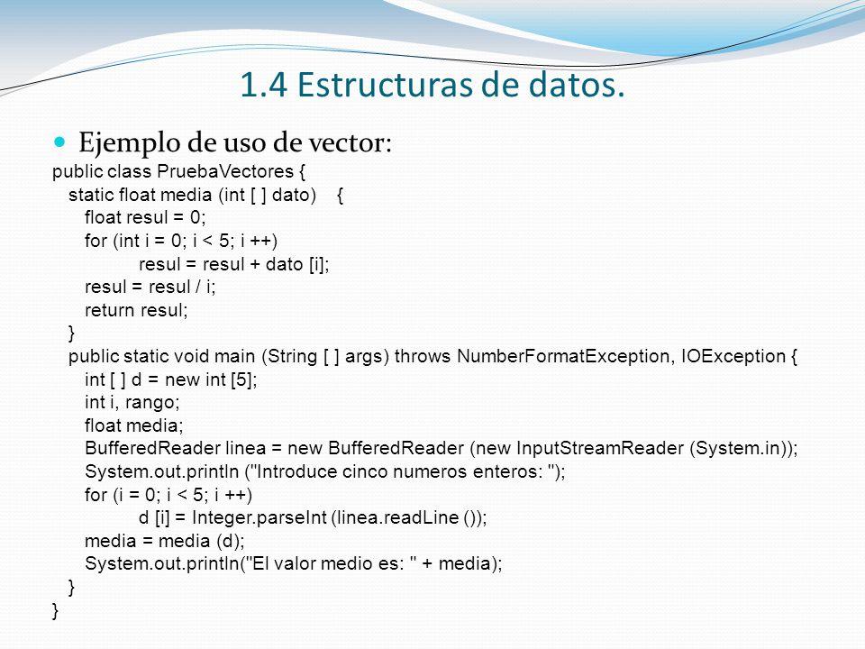 1.4 Estructuras de datos.Estructuras de datos estáticas (II).